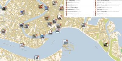 Veneția Arată Hartă Hărți Veneția Italia